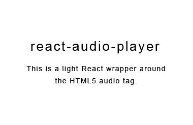 A simple React wrapper on the HTML5 audio tag