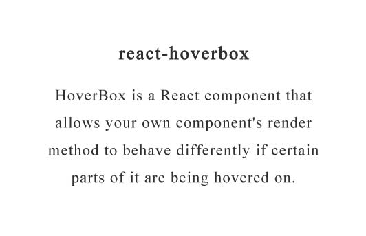 ReactJS Component that knows when it's hovered over