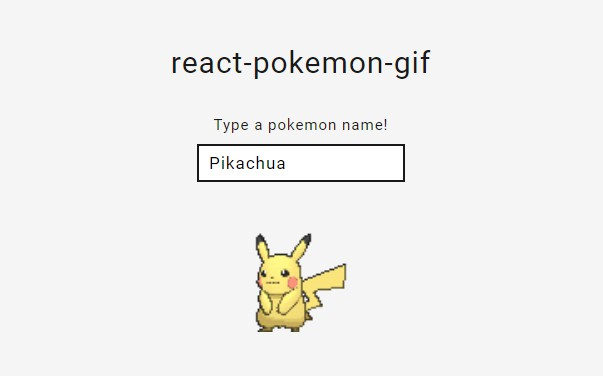 React component for animated pokemon sprites