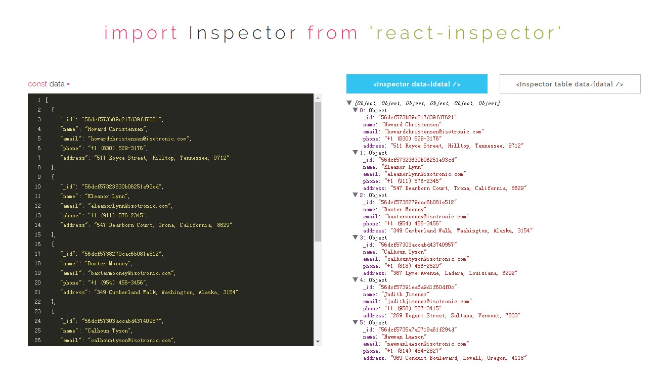 Power of Browser DevTools inspectors right inside your React app
