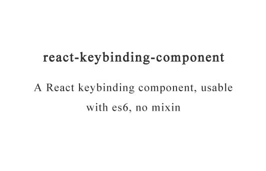 A top-level declarative React keybinding component