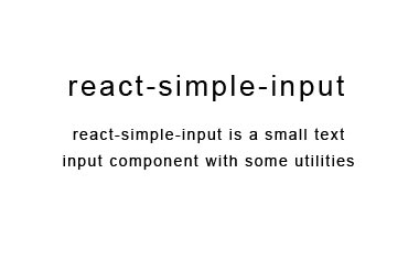 A simple text input for React