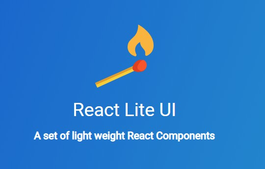 A set of light weight React Components