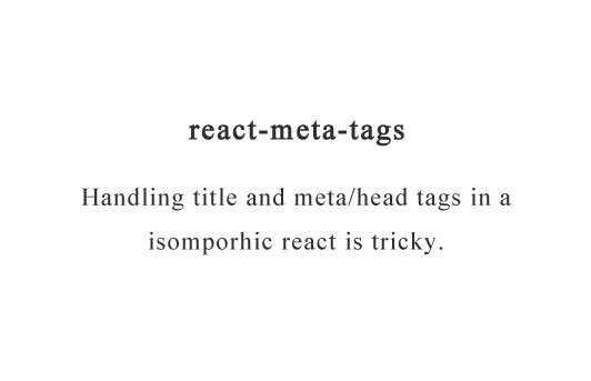 Handle document meta/head tags in isomorphic react with ease