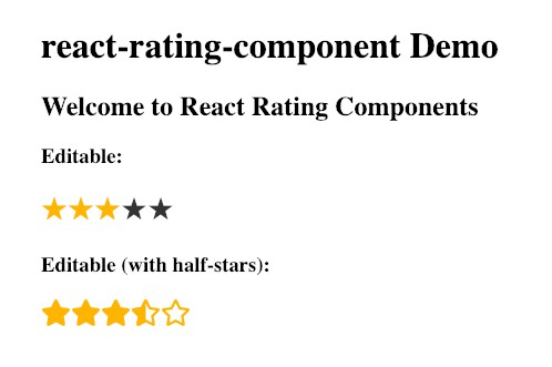 Tiny React.js component for ratings