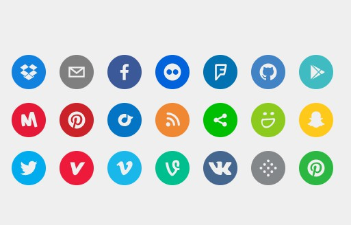 A set of beautiful svg social icons
