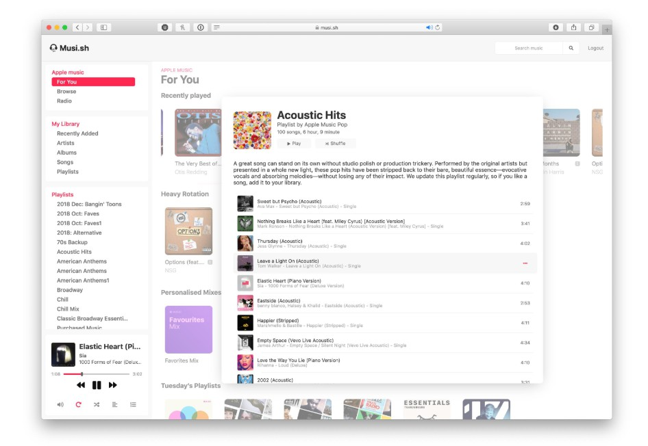 The unofficial open source Apple Music webapp