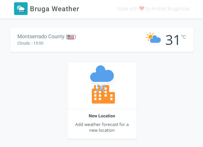 Weather app made with React