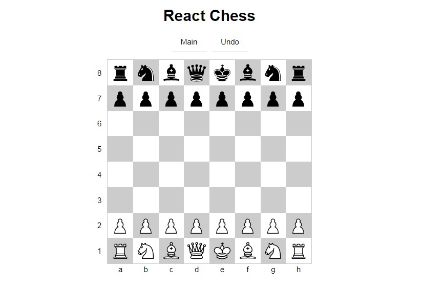 Chess game with React.js