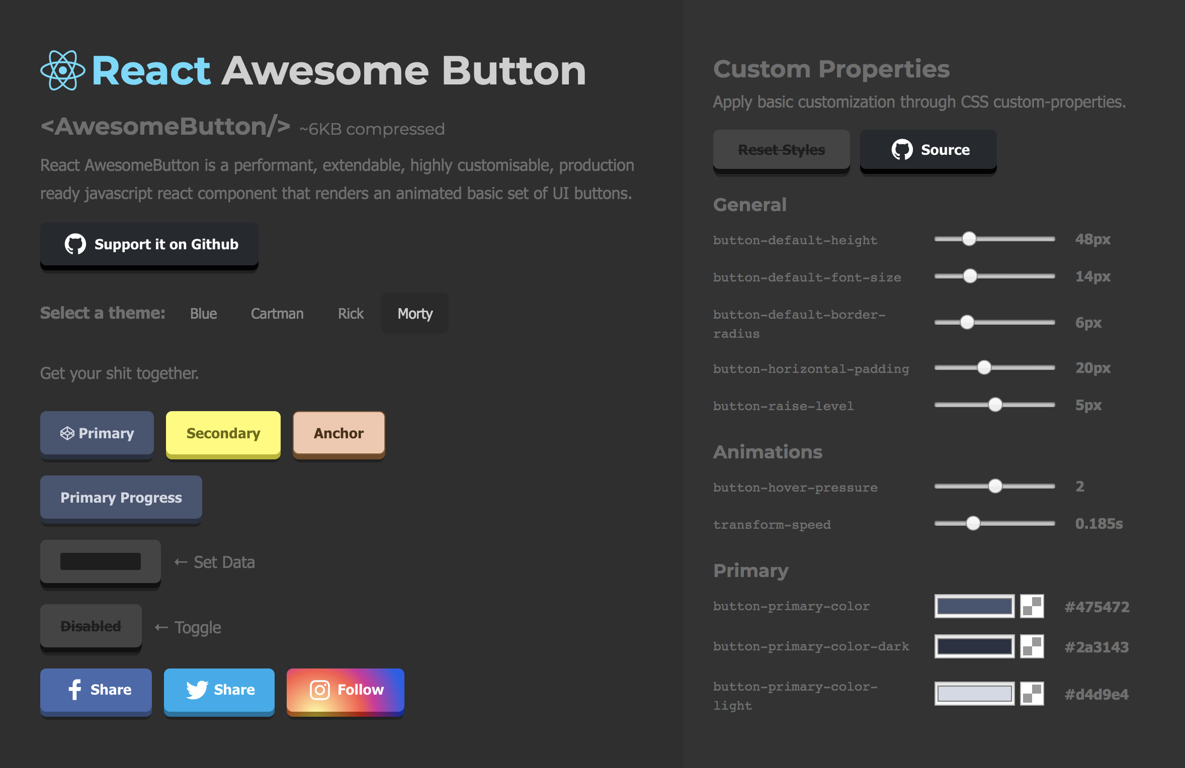 react-awesome-button-customizer