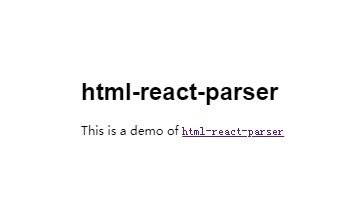 A HTML to React parser