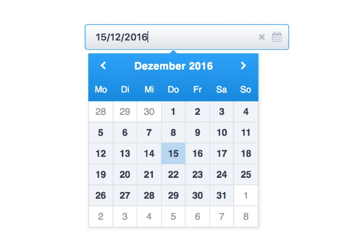 A decent and pretty date picker to be used with ReactJS
