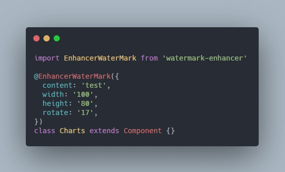 Add watermark to react components in a more elegant way