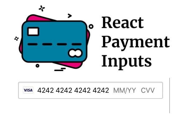 React payment card input fields