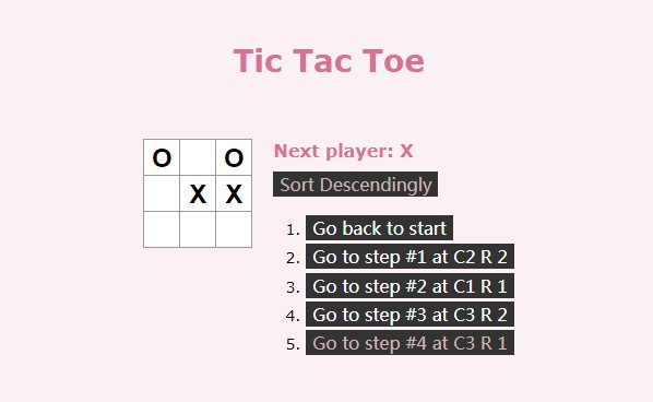 Tic-Tac-Toe built in React