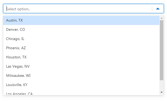 Micro-sized & micro-optimized select component for ReactJS