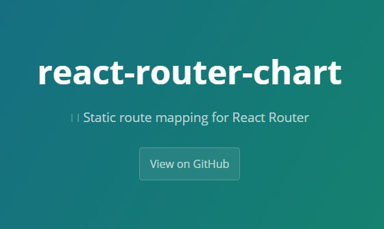 Static route mapping for React Router