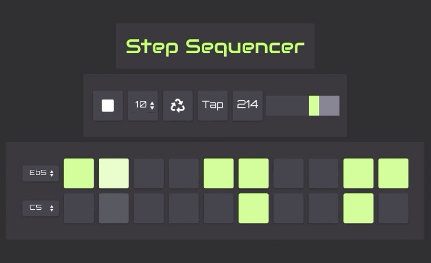 Multimeter step sequencer with react.js