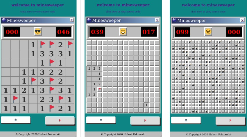 Minesweeper game with react.js