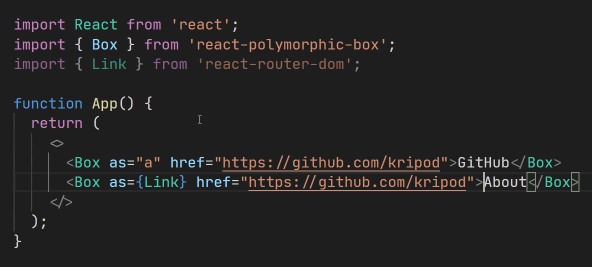 Building blocks for strongly typed polymorphic components in React