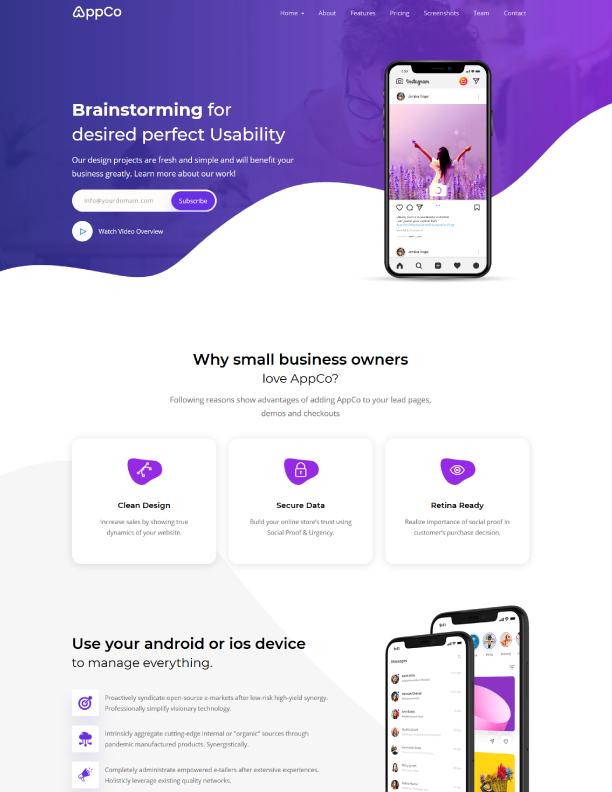 React-App-Landing-page